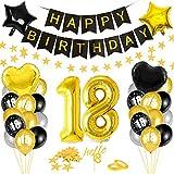 Globos 18 Cumpleaños,Decoración 18 Cumpleaños,Fiesta Cumpleaños 18,Globo de Cumpleaños 18,Globos de Cumpleaños Número 18,Cumpleaños Hombre 18,Kit 18 Cumpleaños Mujeres,Decoraciones Cumpleaños 18 Años