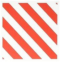 InspirationzStoreストライプパターン–赤と白Candycane対角ストライプパターン–Candy Cane–ストライプStripy太字Simple Modern–グリーティングカード Set of 12 Greeting Cards