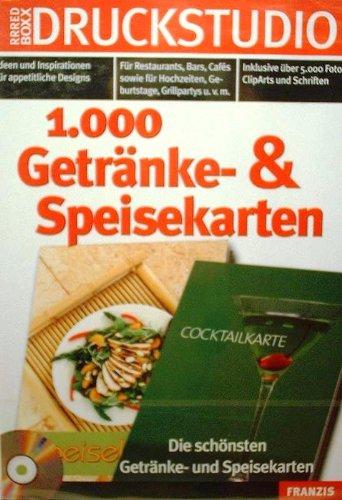 Druckstudio - 1000 Getränke- & Speisekarten