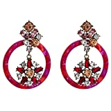 Design Rhinestone Acrylic Dangle Earrings For Women Jewelry Vintage Ethnic Collection Earrings Accessories-C