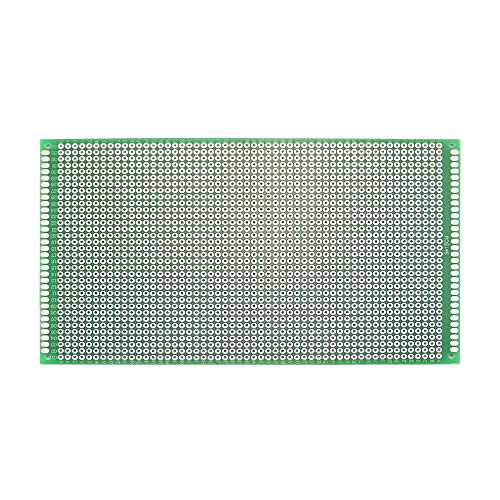 Wangcheng Double Sided Universal Printed Circuit Board PCB Prototyping Prototype Proto Board for DIY Solder Breadboard 3PCS(9x15cm)
