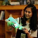 GBSELL Gleamy LED Dolphin Glow Pillow Soft Cushion Gift Plush Toy Home Decor (Blue)