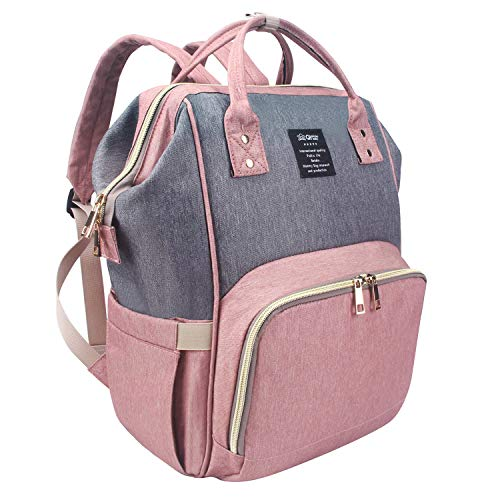 QIMIAOBABY Diaper Bag Backpack, Multifunctional Travel Backpack, Large Capacity, Waterproof Fashionable Mommy Bag