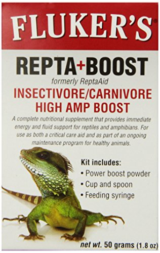 Fluker's 73030 Insectivore/Carnivore High AMP Boost Reptile Supplement, 50gm