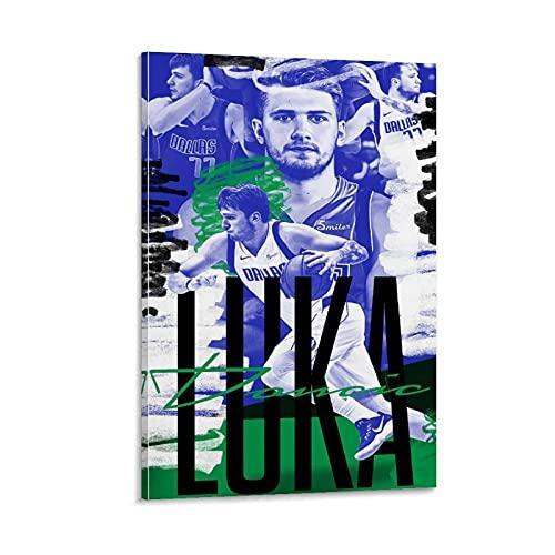 TYUGHJ Luka Doncic Wallpaper NBA - Póster de pared (60 x 90 cm)