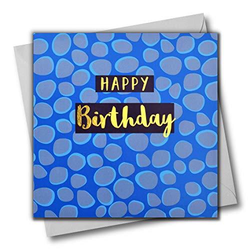 Happy Birthday Grußkarte Farbige Diamanten Text in glänzend gold offen für Ihn Freund Mama Papa Sohn Freund Schwester Bruder