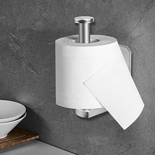 Toilettenpapierhalter Selbstklebend Kleber Ohne Bohren Klorollenhalter Edelstahl Klopapierhalter WC Papier Halterung Wandmontage für Küche und Badzimmer Unter dem Schrank