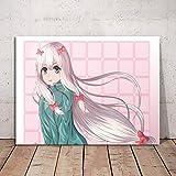 wZUN Cuadro de Estilo nórdico, Pintura en Lienzo, póster de Anime japonés, Arte de Pared para niños, decoración del hogar, habitación 60x80 Sin Marco