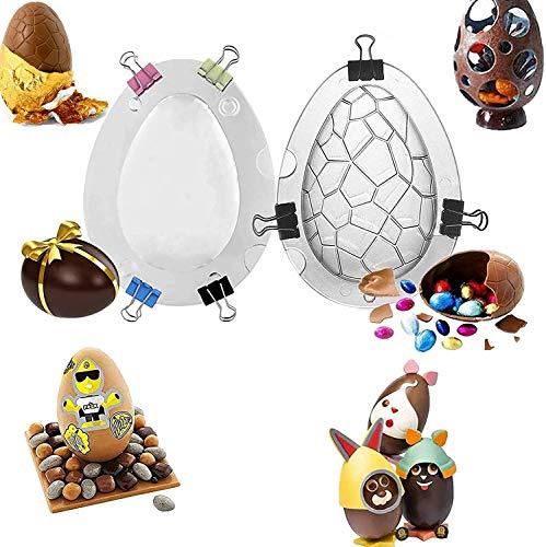 TTCPUYSA 2Pcs 3D Ostereier Schokoladenform , DIY Kuchen Dekoration Form Wiederverwendbare Familienfeier Kuchen Dekoration Backwerkzeuge