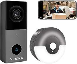 Yiroka Video Timbre con Cámara Cableada Exterior, Smart Life/TuyaSmart APP, HD 1080P, Almacenamiento en la Nube, Tarjeta S...