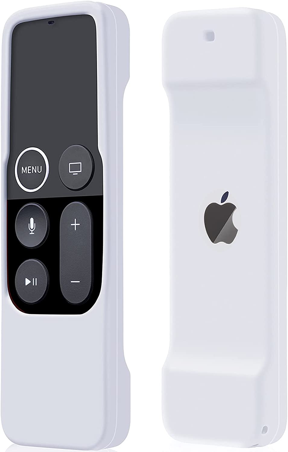 Case Compatible with Apple TV 4K/ 4th Gen Remote Light Weight Anti-Slip Shock Proof Silicone Cover for Controller for Apple TV Siri Remote - White