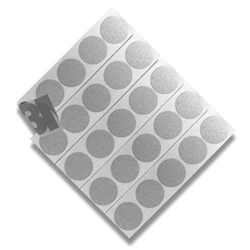 DonDo 3M 610C Reflektierendes Klebeband Reflexfolie Reflektorfolie Geocaching Punkte Reflektoren Nachtcache selbstklebend Silber D20mm