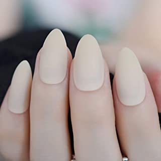 Meili Pearl Shine Pink French Nail White Round Fake Nails Short Glossy Satin Artificial Lady Fingernails With Adhesive L5009