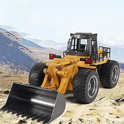 RC Bulldozer 1:16 Control Remoto inalámbrico RC Truck Juguetes 6 CH Simulación RC Truck Juguete RC Ingeniería Coche Bulldozer Regalo para niños Regalos (Tamaño: 2 Batería)-2 batería