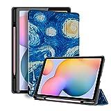 HHF Pad Accesorios para Samsung Galaxy Tab S6 Lite 10.4 SM P610 SM P615, Titular de la Caja de la Caja de la Caja de lápiz Soft TPU Protectora/Caja de la Piel para Samsung Galaxy Tab S6 Lite 10.4