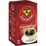 3 Coracoes Extra Forte Brazilian Ground Coffee Vacuum Packed 500 grams