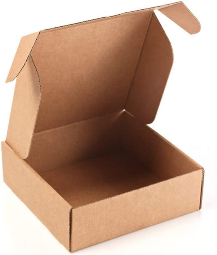 Only Boxes | Pack 20 Cajas de Cartón Kraft Para Envío Postal | Caja de Cartón Automontable para Envío o Almacenaje | Medidas interiores en cm (largo x ancho x alto): 13 x 15 x 4
