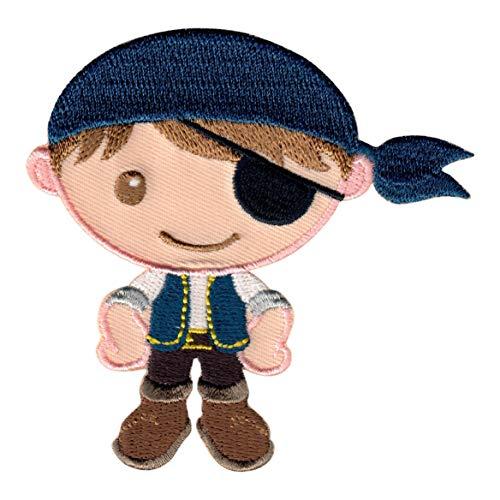 PatchMommy Pirat Patch Aufnäher Applikation Bügelbild - zum Aufbügeln oder Aufnähen - für Kinder/Baby