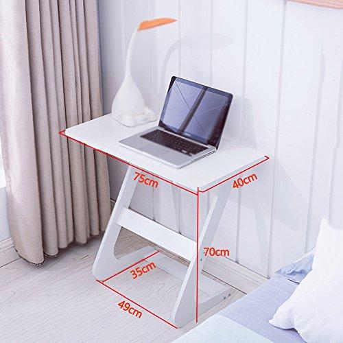 FEI Petit bureau d'ordinateur Bureau simple Bureau d'ordinateur à la maison Petit bureau d'appartement Bureau d'ordinateur de bureau (Couleur : Blanc)