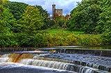 MX-XXUOUO Recuerdos de Viaje del Reino Unido, Inglaterra Castillo de Hornby HDR Naturaleza Cascadas Ríos, 1000 Piezas de Rompecabezas para Adultos (75x50cm)