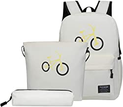 طقم حقائب مدرسية 3 قطع من Domybest للبنات، قماش أكسفورد كاجوال حقيبة ظهر داي باك + حقيبة كتف + حقيبة أقلام للنساء للمراهقين, oen size