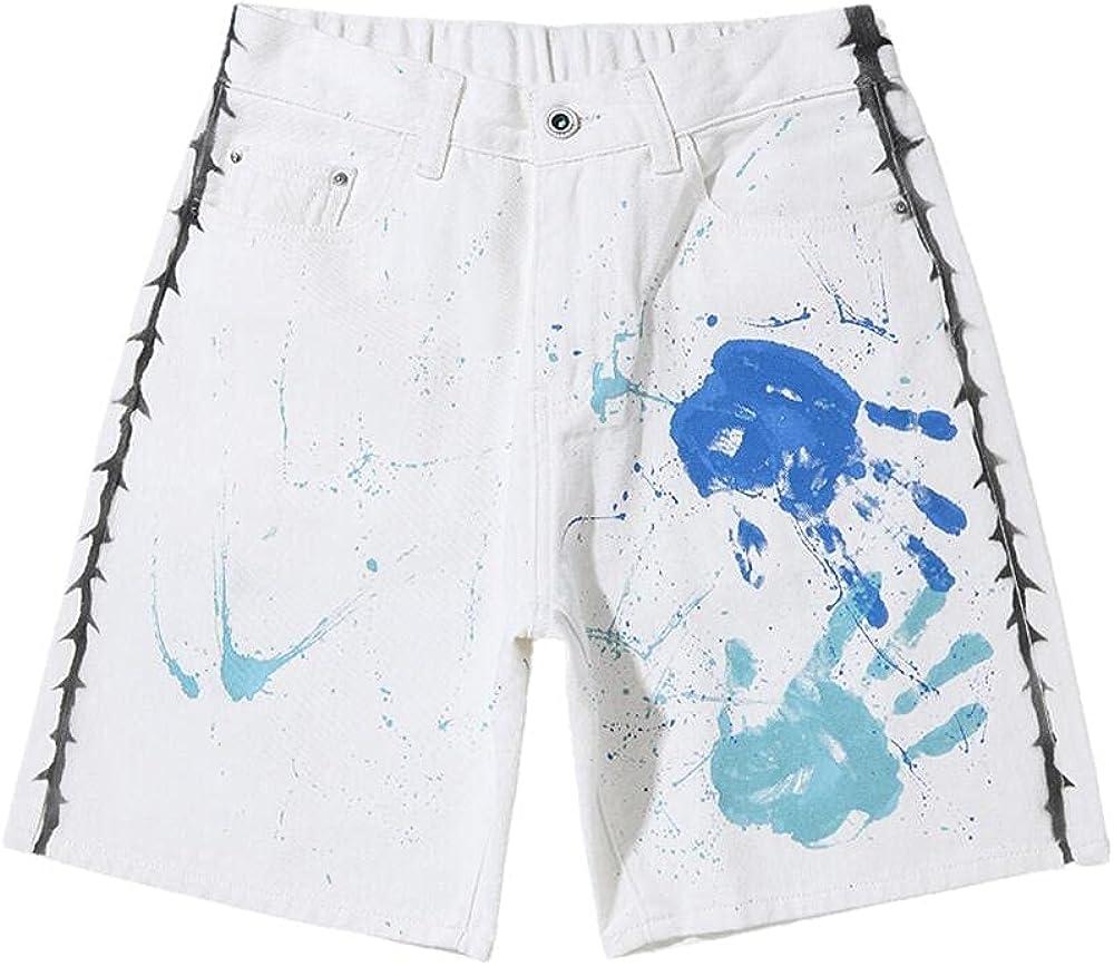 NP Summer Men's Loose Casual Denim Shorts Five-Point Pants