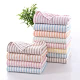 Reusable Unpaper Towels, Washable Bamboo Dishcloth Nature Paper Towels, Eco-Friendly No Odor Reusable Cleaning Cloths Dishcloths for Kitchen, Super Absorbent Dish Rags - 12 Pack, 10 X 14Inch