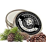 Bálsamo Barba de cáñamo | Crema estimulante para el crecimiento del vello facial con cafeína | Acondicionador de Primera Calidad | LATA XL GRANDE, 60 ML