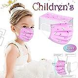 50 Piezas Niños Protección 𝐌𝐚𝐬𝐜𝐚𝐫𝐢𝐥𝐥𝐚𝐬,para Impresión linda 3 Capas Transpirables con Elástico para Los Oídos
