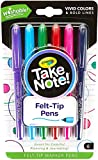 Crayola Take Note Felt Tip Pens, Assorted Colors, School Supplies, at Home Crafts for Kids, 6 Count, Pack of 2