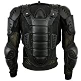Mens Body Armours Motorcycle CE Approved Motorbike Chest Shoulder Back Guard Protector Armors Spine Protection Jacket - Black S
