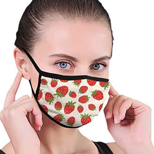 Adult Mundmaske Erdbeeren Muster Anti-Pollen Half Face Masken zum Radfahren