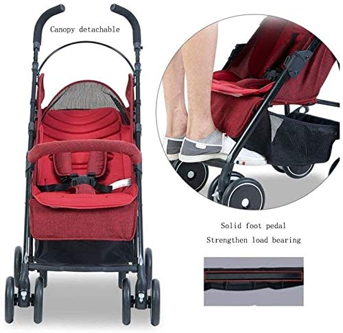 LAMTON Baby Stroller for Newborn, Baby Pushchair,Folding Summer Stroller Lightweight Infant Travel Buggy,80 * 48 * 28/cm (Color : Gray) LAMTON Adjustable handlebars for people of all heights can adjust the most comfortable push position Easy to fold, can be picked up in the trunk of the car, his parents urge him to go shopping, travel, walk, play and talk, or picnic outdoors ★ The weight is 5.2kg,Folded size:80*48*28/cm(31.5*19*11/inches) 5