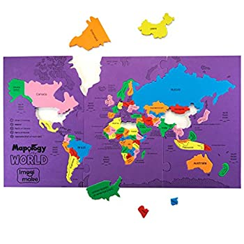 Imagimake  Mapology World- World Map and Its Countries- Learning Aid & Educational Toy- Jigsaw Puzzle- for Kids Age 4 and Above