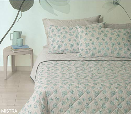 Quilted Bedspread Spring Summer Pumpkin Double Bed 260 x 260 cm Double Face Pure Cotton Mistra Col T1