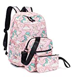 Leaper Unicorn Backpack for Girls Rainbow Laptop Backpack School Bag Travel Daypack Bookbag