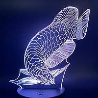 3Dランプ素敵な魚の寝室の赤ちゃんの寝室16色変更USBナイトライト最高のギフト子供のためのナイトライトの装飾