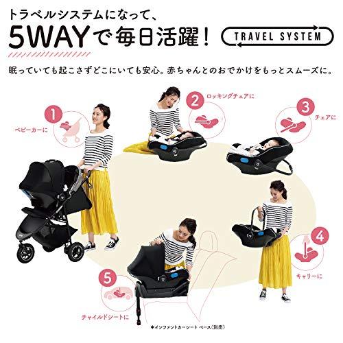アップリカ3輪ベビーカーSmoooveADスムーヴAD(ハンドブレーキ・新生児から使える)別売トラベルシステム対応ネイビーボーダー1か月~(1年保証)2084455