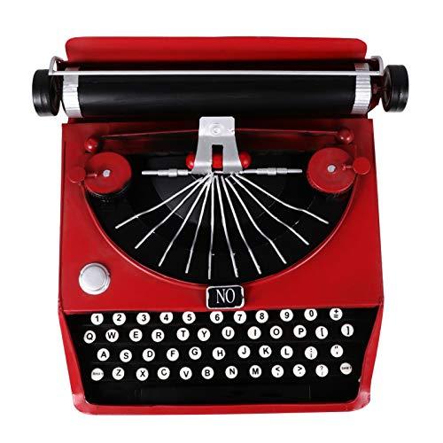 Homoyoyo Adorno de Máquina de Escribir Retro Vintage Mini Adorno de Hierro Antiguo para La Decoración de La Sala de Estudio de La Oficina en Casa