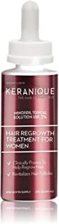 Keranique Hair Regrowth Treatment Dropper – 2% Minoxidil, 2 Fl Oz 30 Day Supply – Regrow Thicker-Looking Hair, Helps Revitalize Hair Follicles