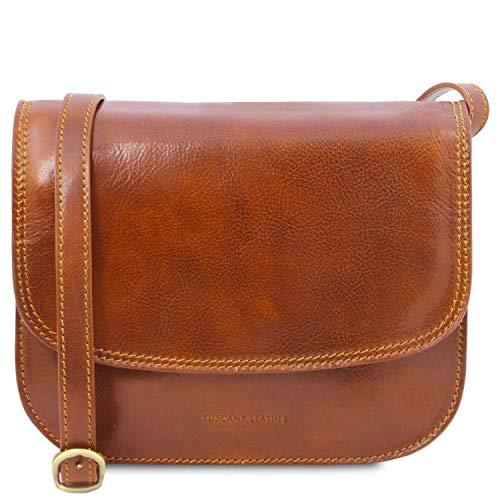 Tuscany Leather - Greta - Klassische Umhängetasche aus Leder - TL141958 (Honig)