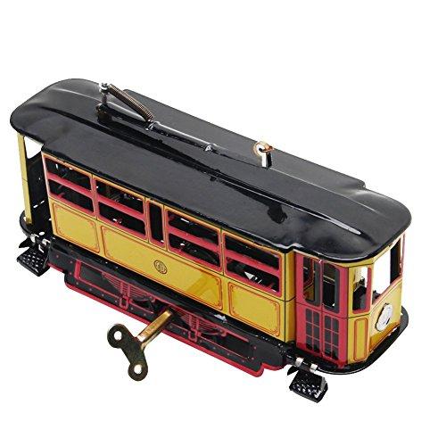 Fliyeong Retro Wind Up Tram Kabel Bus Uhrwerk Straßenbahn Spielzeug Vintage Collection Kid Geschenk hohe Qualität