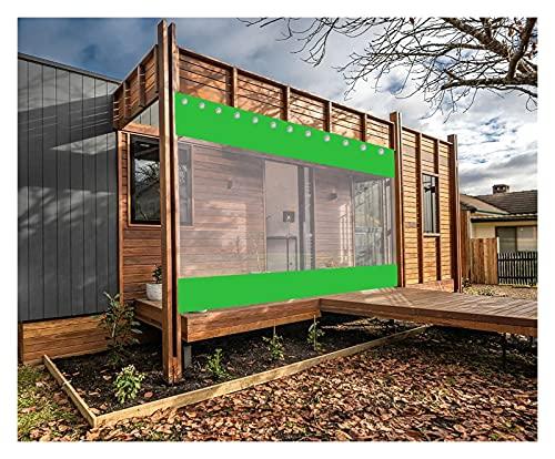 AWSAD Cortinas de Pérgola, Adecuadas para Pabellones Balcones Garajes, Aislamiento Acústico y Reducción de Ruido, Personalización de Soporte (Color : Green, Size : 2.8x2m)