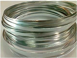 Flat Silver Wire 32ft L X 3/16in W