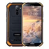 DOOGEE S40 4G Moviles Libres Resistente IP68/IP69K Impermeable Smartphone 4650mAh, Android 9.0 Telefono Movil Todoterreno 5.5'' Cámara 8MP+5MP Dual SIM 3GB+32GB, NFC Face ID + Huella Digital - Naranja