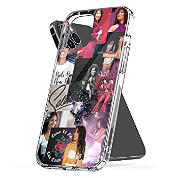 Case Cover Selena  Pc The Waterproof Series Funny Christian TPU Serratos Clear Aesthetic Collage Art Compatible for iPhone 6 6s 7 8 X Xr Xs 11 12 Pro Max Plus Se 2020