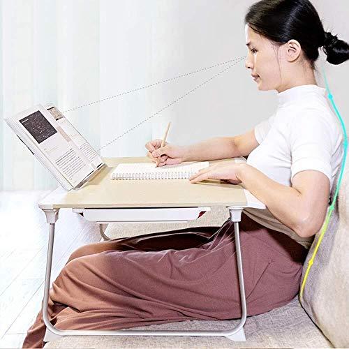 LILIS Mesa Plegable Trabajo de la computadora de Escritorio del Ordenador portátil, Escritorio Plegable con el Soporte y el cajón (Color : B)