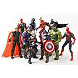 ZHI BEI Marvel Hero Figure Model Set, Hero Doll Decoration Modelo Modelo Muñeca de Juguete (10 Modelos)