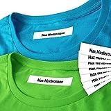 Wäscheetiketten (200) mit Namen mit und ohne Motiv zum Einbügeln Bügeletiketten Wäscheschilder Namensschilder Bügeln Beschriftung Wäsche 200 Stück (ohne Motiv)