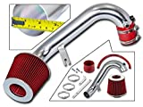 Rtunes Racing Short Ram Air Intake Kit + Filter Combo RED Compatible For 01-05 Honda Civic 1.7L